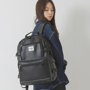 LE20FBK Secret backpack 레더 백팩 블랙